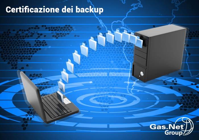 La certificazione dei backup